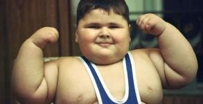Fat Kid Flexing